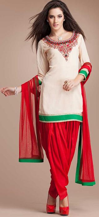 Indian Patiala Salwar Kameez Punjabi Suits 2014-2015 (9)
