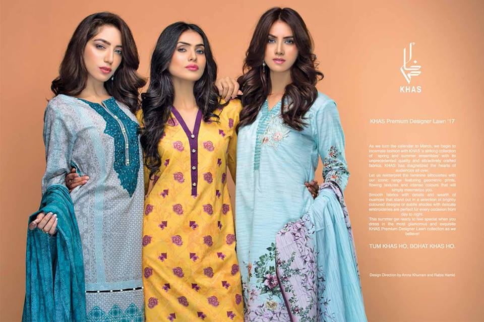 Khas Summer spring Designer lawn Collection 2017-2018 (2)