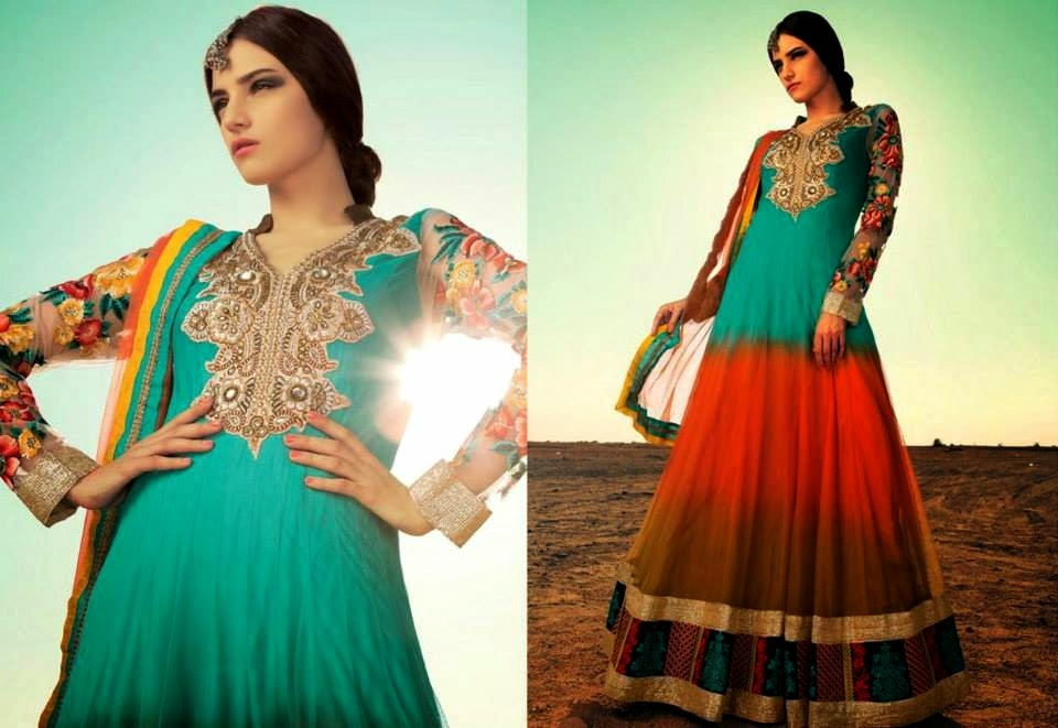 Latest Asian, Indian and Pakistan Designer Salwar kameez Dresses for women 2014-2015 (3)