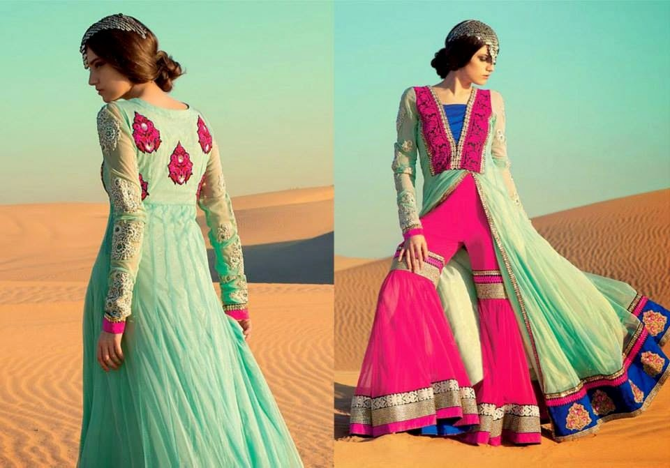 Latest Asian, Indian and Pakistan Designer Salwar kameez Dresses for women 2014-2015 (4)