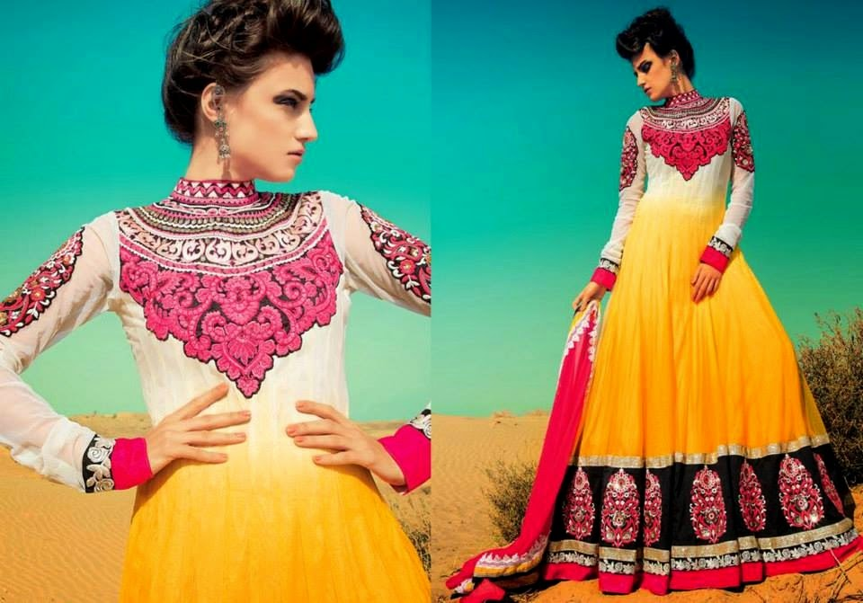 Latest Asian, Indian and Pakistan Designer Salwar kameez Dresses for women 2014-2015 (5)