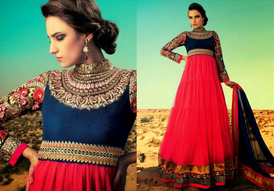 Latest Asian, Indian and Pakistan Designer Salwar kameez Dresses for women 2014-2015 (8)