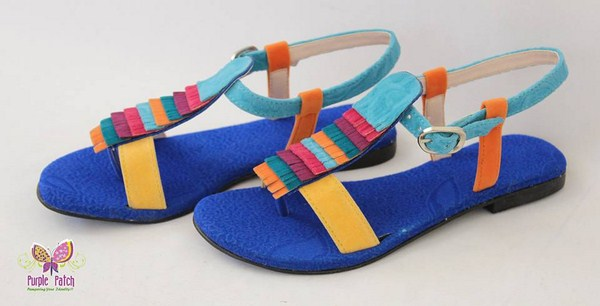 0c2a0e832660 New Summer Spring Sandals and Shoes Footwear Designs For Women By Purple  Patch