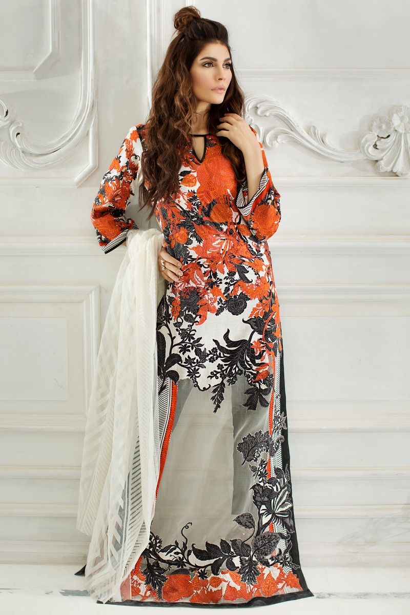 Sana Safinaz Best Summer Lawn Dresses Latest Printed Embroidered Collection 2017-2018 (10)