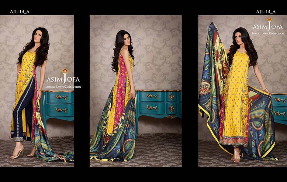 Asim Jofa Luxury Embroidered Lawn Formal dress Summer Collection 2014-2015 (10)