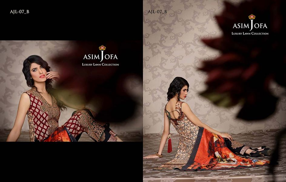 Asim Jofa Luxury Embroidered Lawn Formal dress Summer Collection 2014-2015 (11)
