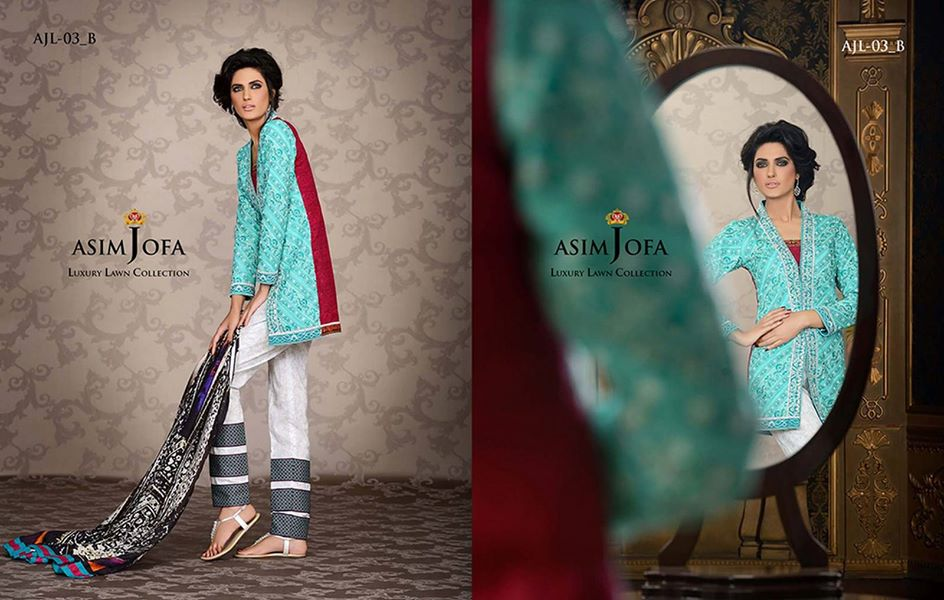 Asim Jofa Luxury Embroidered Lawn Formal dress Summer Collection 2014-2015 (12)