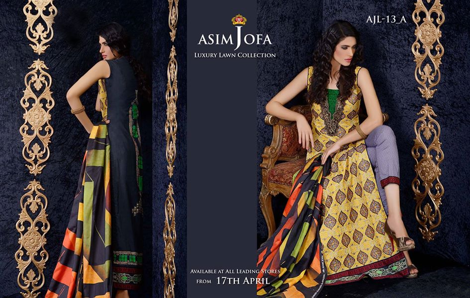 Asim Jofa Luxury Embroidered Lawn Formal dress Summer Collection 2014-2015 (13)