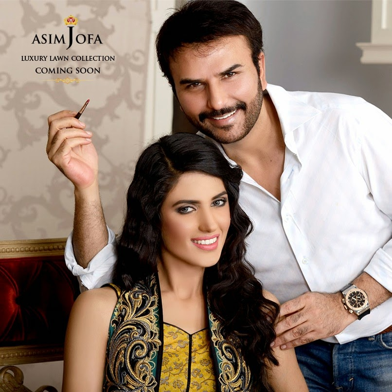 Asim Jofa Luxury Embroidered Lawn Formal dress Summer Collection 2014-2015 (6)