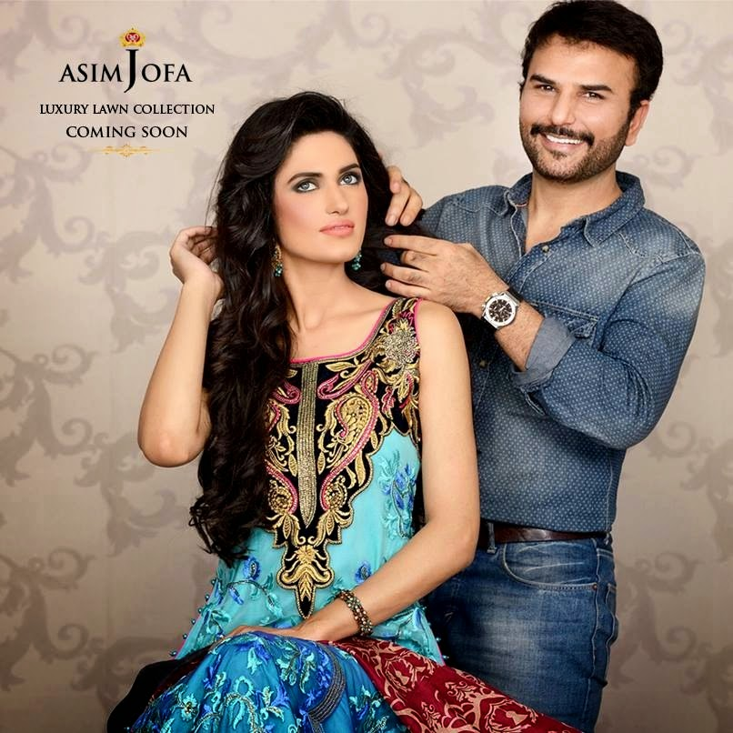 Asim Jofa Luxury Embroidered Lawn Formal dress Summer Collection 2014-2015 (7)