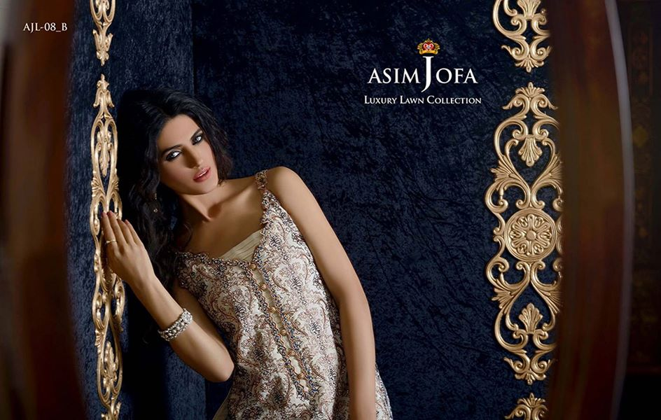 Asim Jofa Luxury Formal embroidered Lawn Collection for women 2014-2015 (6)