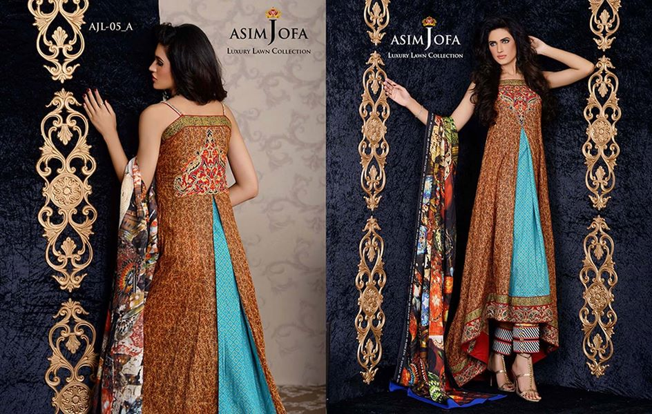 Asim Jofa Luxury Formal embroidered Lawn Collection for women 2014-2015 (7)