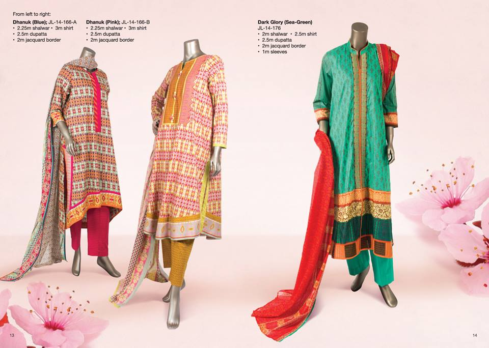 Junaid Jamshed Summer Lawn Dresses Collection for women 2014-2015 (1)