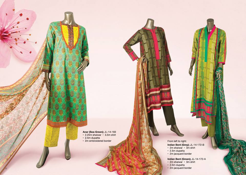 Junaid Jamshed Summer Lawn Dresses Collection for women 2014-2015 (2)