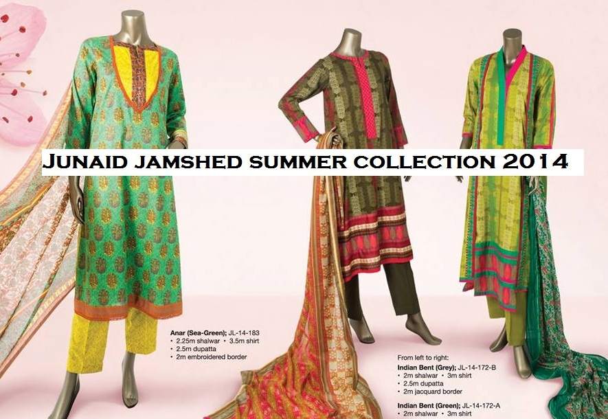 Junaid Jamshed Summer Lawn Dresses Collection for women 2014
