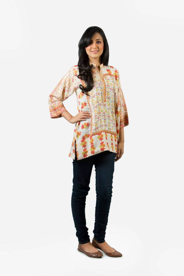 Kaadi Spring Summer women Pret Collection 2014-2015 - Jeans & Tops Collection  (12)