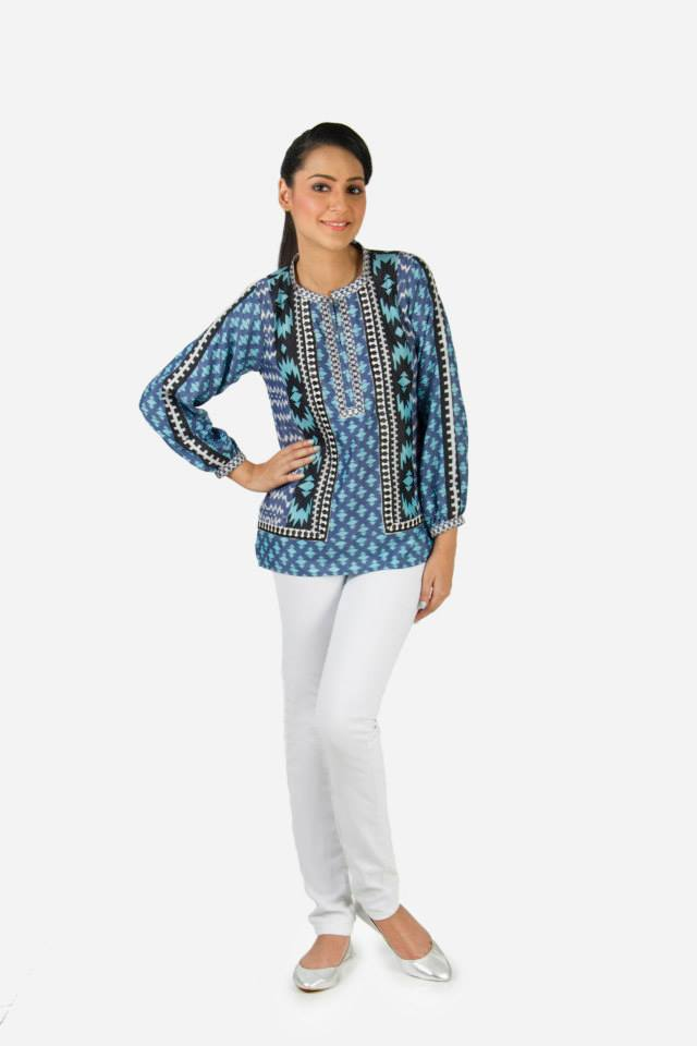 Kaadi Spring Summer women Pret Collection 2014-2015 - Jeans & Tops Collection  (6)
