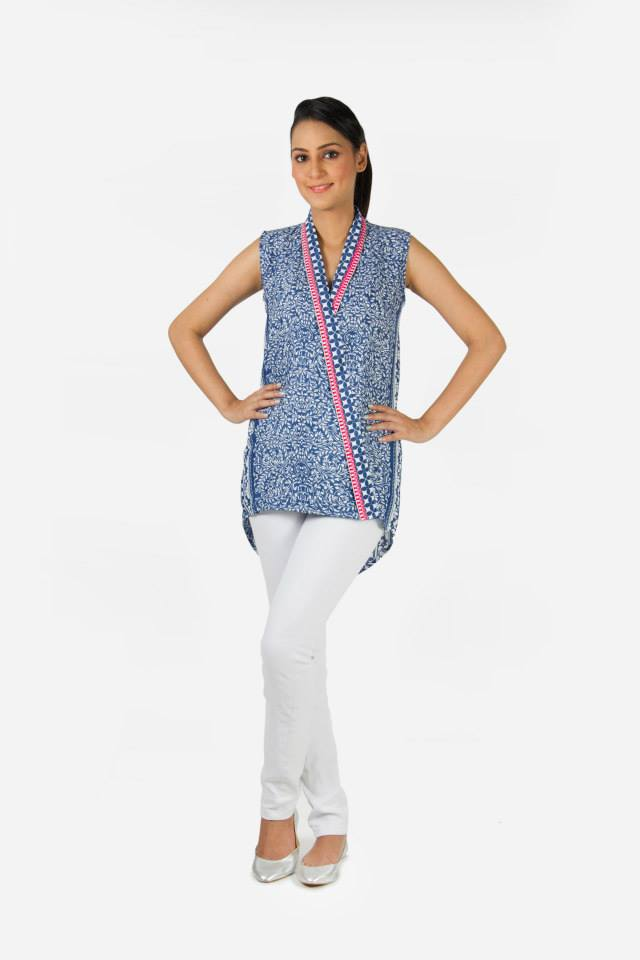 Kaadi Spring Summer women Pret Collection 2014-2015 - Jeans & Tops Collection  (7)