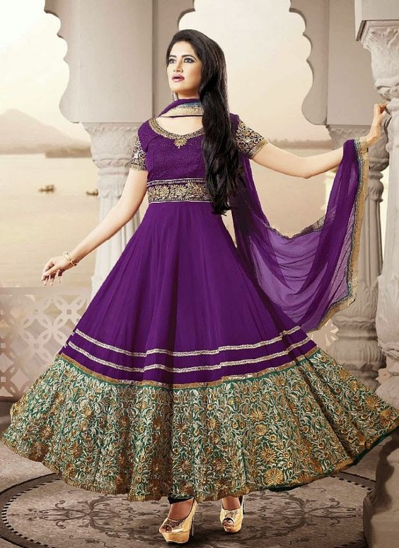 Latest Asian Umbrella Style Dresses & Frocks Designs (1)