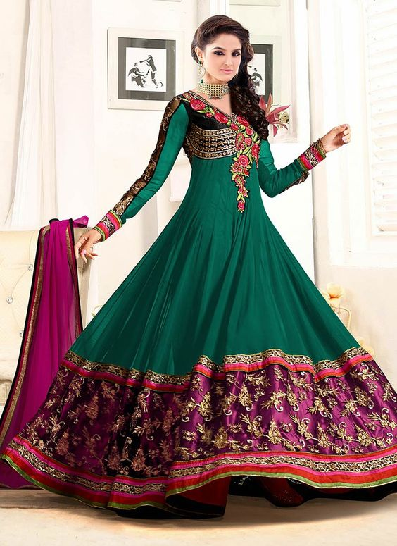 Latest Asian Umbrella Style Dresses & Frocks Designs (11)