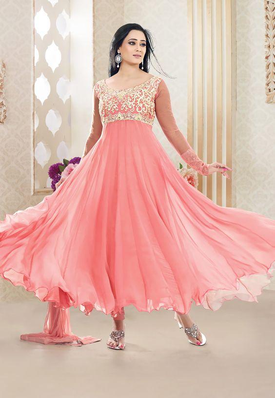 Latest Asian Umbrella Style Dresses & Frocks Designs (12)