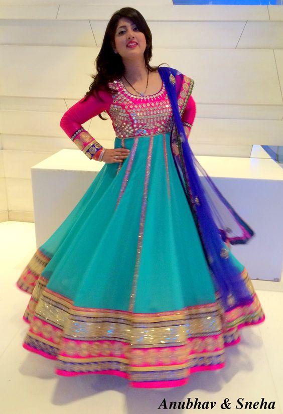 Latest Asian Umbrella Style Dresses & Frocks Designs (13)