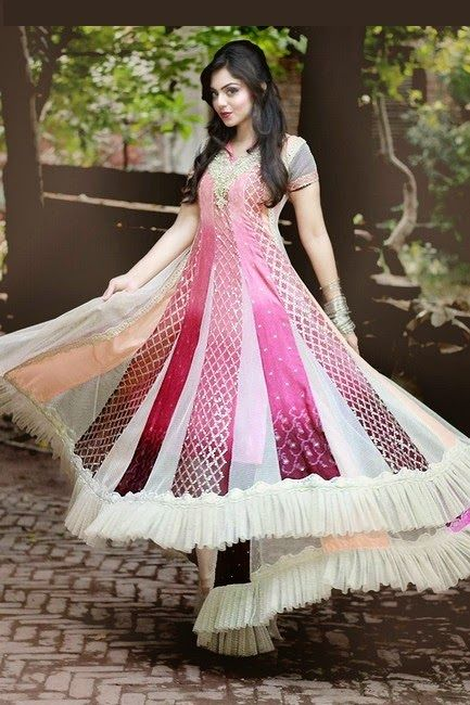 Latest Asian Umbrella Style Dresses & Frocks Designs (15)