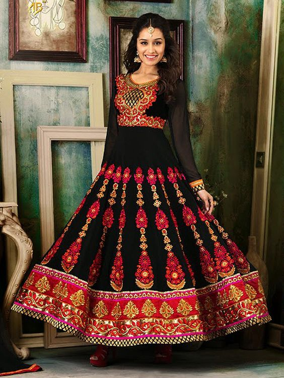 Latest Asian Umbrella Style Dresses & Frocks Designs (16)