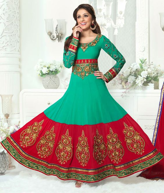 Latest Asian Umbrella Style Dresses & Frocks Designs (17)
