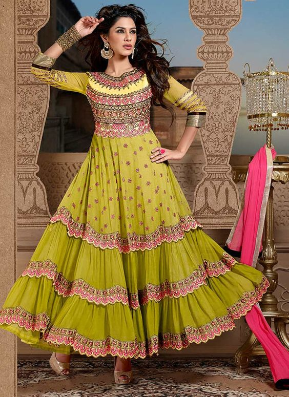 Latest Asian Umbrella Style Dresses & Frocks Designs (18)