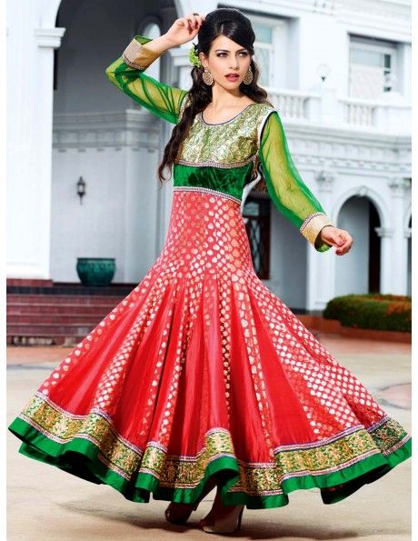 Latest Asian Umbrella Style Dresses & Frocks Designs (2)