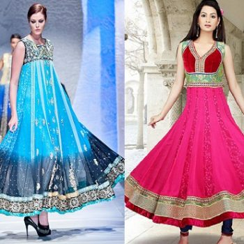 Latest Asian Umbrella Style Dresses & Frocks Designs 2018-19 Collection