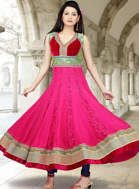 Latest Asian Umbrella Style Dresses & Frocks Designs (4)