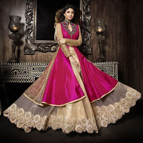 Latest Asian Umbrella Style Dresses & Frocks Designs (7)