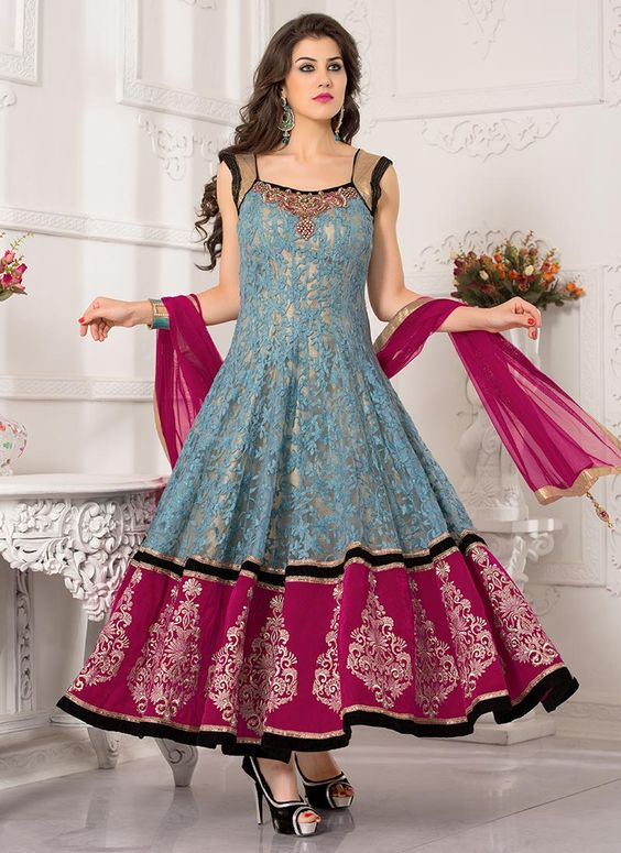Latest Asian Umbrella Style Dresses & Frocks Designs (8)