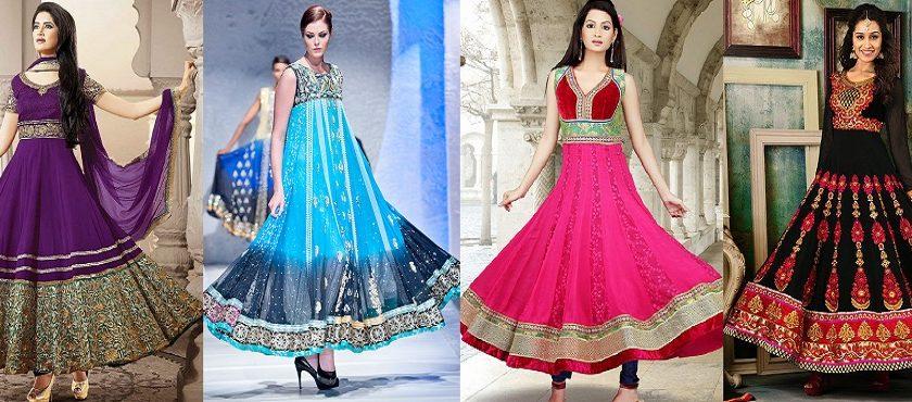 Latest Asian Umbrella Style Dresses & Frocks Designs