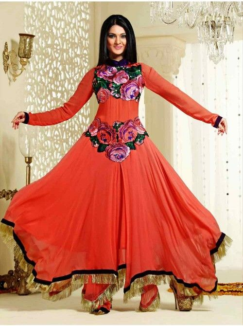 Latest Asian Umbrella Style Dresses & Frocks Designs (9)