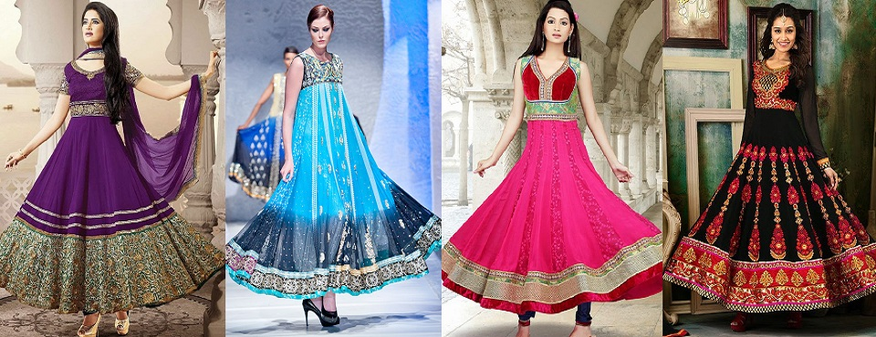 Latest Asian Umbrella Style Dresses & Frocks Designs
