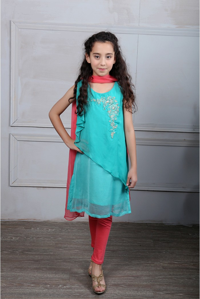 Latest Collection Maria B Fancy Kids Dresses Designs for Girls 2016-2017 (1)