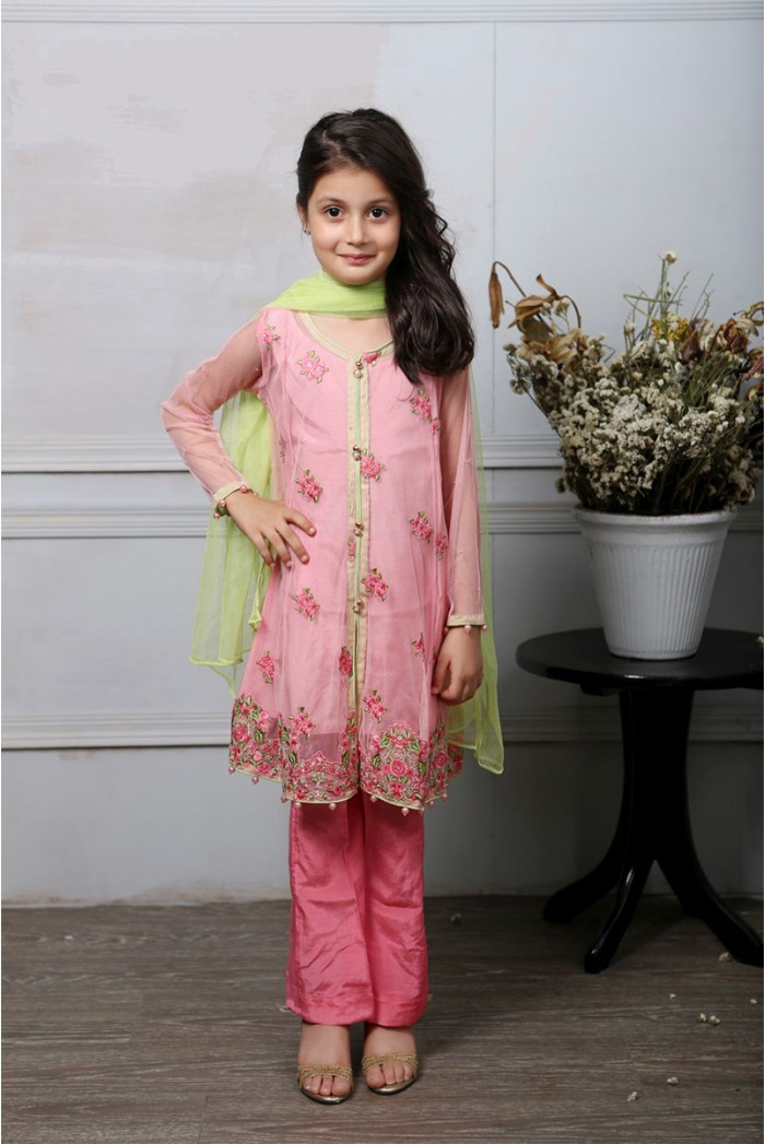Latest Collection Maria B Fancy Kids Dresses Designs for Girls 2016-2017 (10)