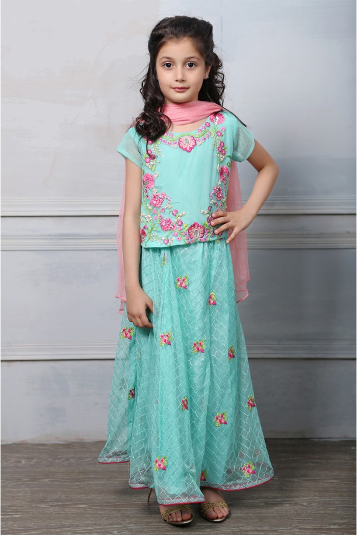 Latest Collection Maria B Fancy Kids Dresses Designs for Girls 2016-2017 (11)