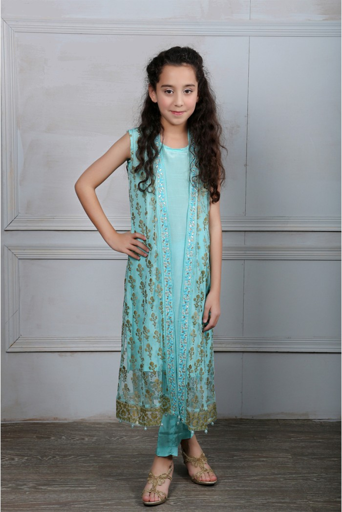Latest Collection Maria B Fancy Kids Dresses Designs for Girls 2016-2017 (12)