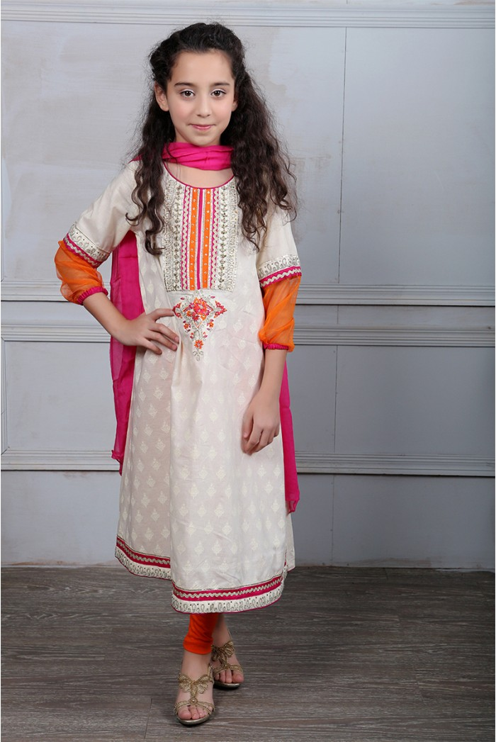 Latest Collection Maria B Fancy Kids Dresses Designs for Girls 2016-2017 (2)