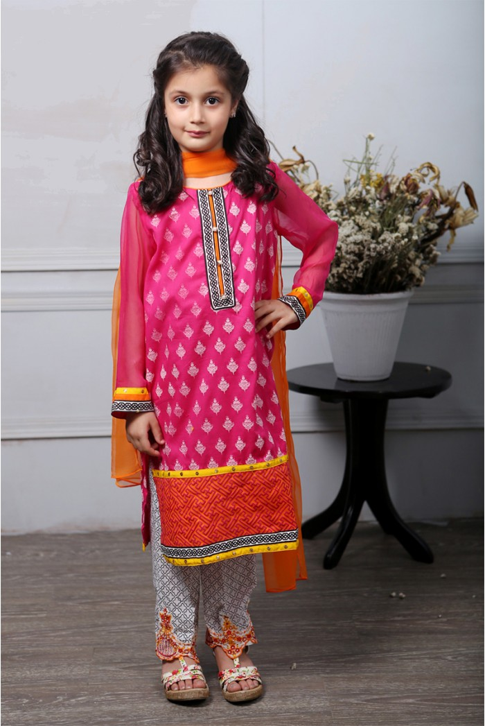 Latest Collection Maria B Fancy Kids Dresses Designs for Girls 2016-2017 (4)