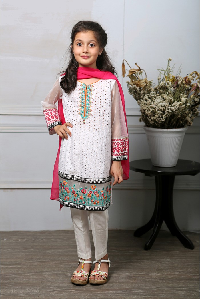 Latest Collection Maria B Fancy Kids Dresses Designs for Girls 2016-2017 (6)