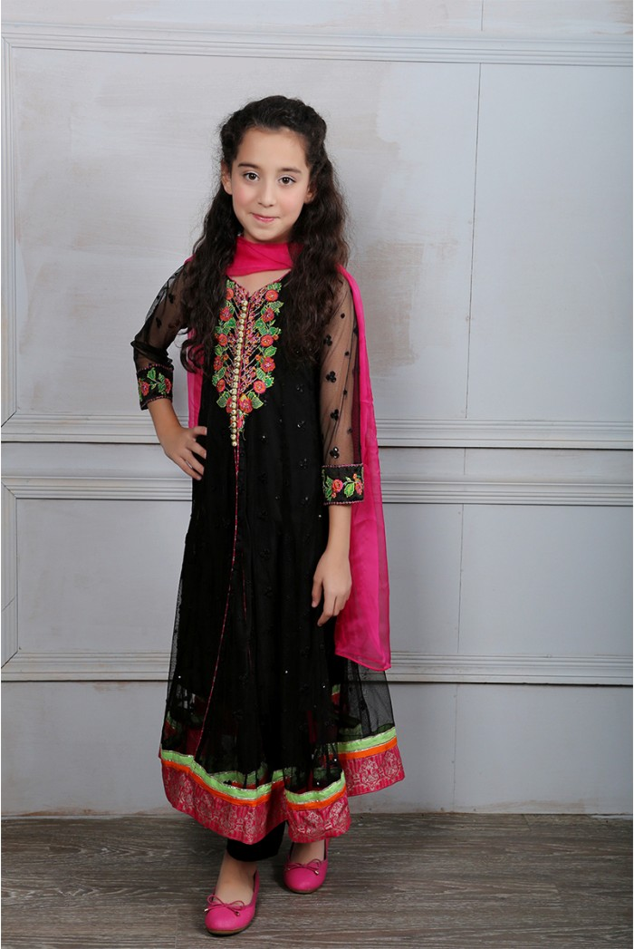Latest Collection Maria B Fancy Kids Dresses Designs for Girls 2016-2017 (8)