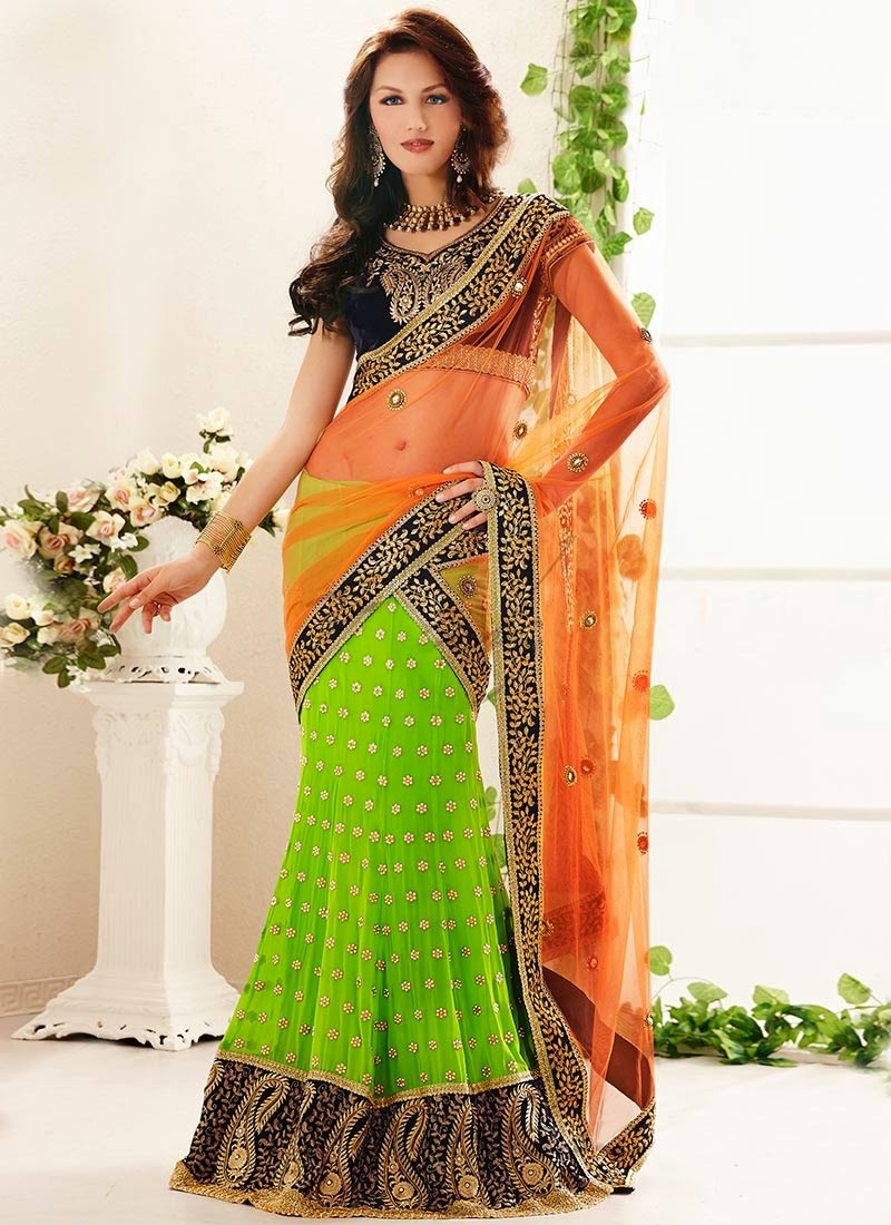 Latest Indian and Asian Designer Party wear and wedding Saree Collection for Women 2014-2015 (1)
