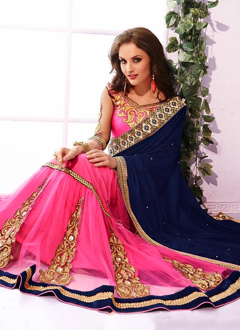 Latest Indian and Asian Designer Party wear and wedding Saree Collection for Women 2014-2015 (10)