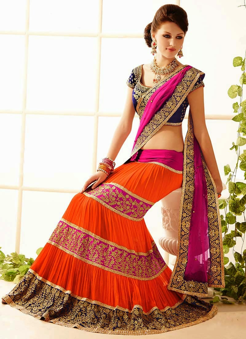 Latest Indian and Asian Designer Party wear and wedding Saree Collection for Women 2014-2015 (14)