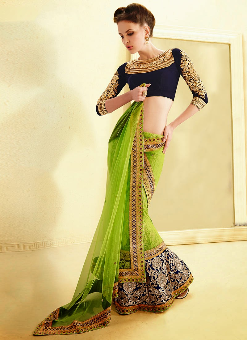 Latest Indian and Asian Designer Party wear and wedding Saree Collection for Women 2014-2015 (15)